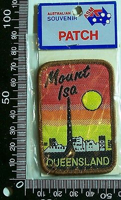 Vintage Mount Isa Queensland Embroidered Souvenir Patch Woven Cloth Sew-On Badge