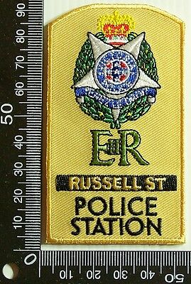 Vintage Victoria Police Russell St Embroidered Patch Woven Cloth Sew-On Badge