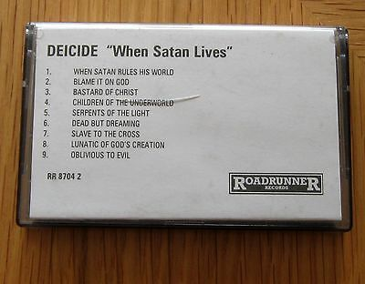 DEICIDE - When Satan Lives VERY RARE Promo Cassette 1998