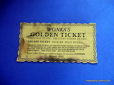 Willy Wonka Golden Ticket (classic)