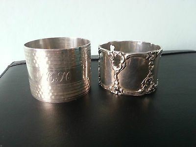 Pair Vintage & Decorative - Solid Silver Napkin Rings both Hallmarked