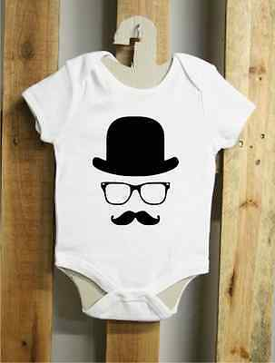 Body Baby J36 Moustache bombetta Hipster Style 100% cotone