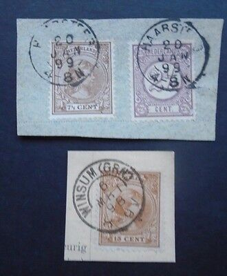 1898/1899 2 Pieces Classic Netherlands Nederland Vf Used B400.52