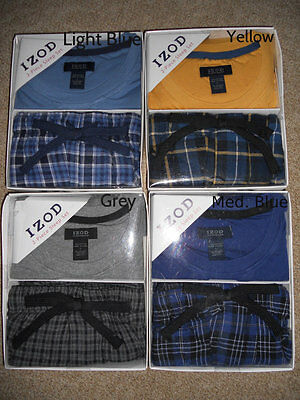 NWT Mens IZOD Flannel 2 Pc Sleep Pants & Long Sleeve Shirt