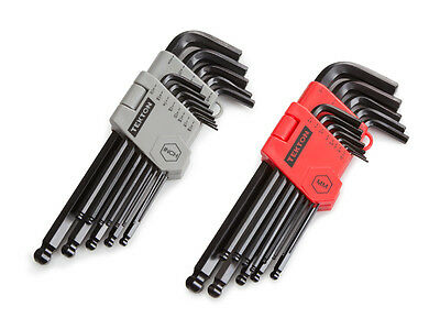 Long Arm Ball Hex Key Wrench Set Inch/Metric 26pc.set with holders
