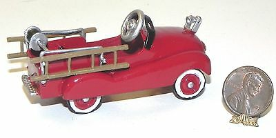 Dollhouse Miniature Fire Truck Red Toy Falcon Minis 1:12 Scale