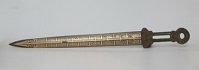 Rare Old Large Chinese Carved Bronze Sword 55Cm (L739)
