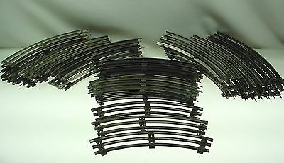 Vintage O Scale Train Track Lot Three Rail Track Lionel Marx Mixed 43 Curved -B