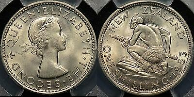 New Zealand 1953 Shilling 1s PCGS MS64 Choice Uncirculated