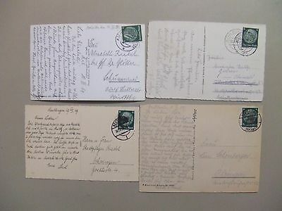 Four old Germany post cards