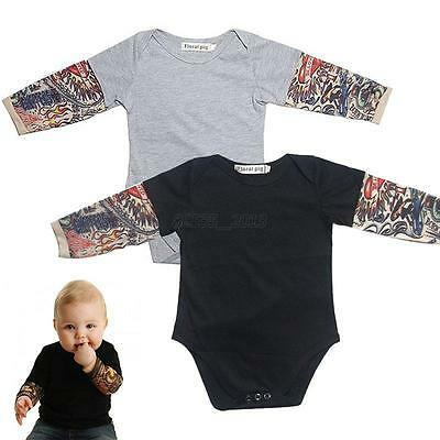Newborn Baby Kids Boys Girls Long Sleeve Bodysuit Romper Jumpsuit Clothes Outfit