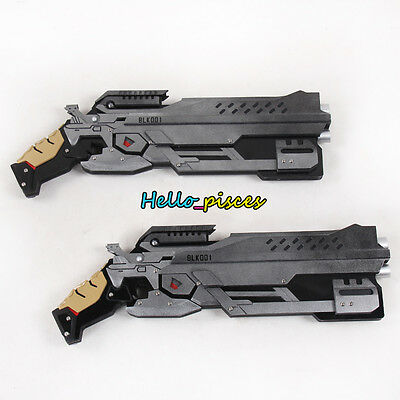 Exclusive Made Overwatch OW BW Reyes Double Gun Weapon PVC Cosplay Prop 19""