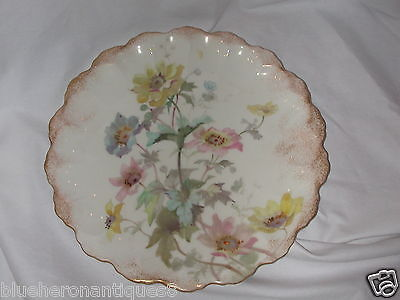 Antique Royal Doulton Floral Decorated Plate C1890