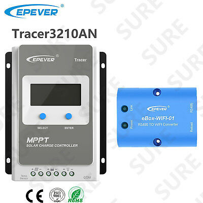 Tracer 3210A 30A MPPT Solar Charge Controller+APP mobile WIFI Communication
