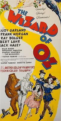 The Wizard of Oz 3 Sheet Vintage Movie Poster Lithograph Judy Garland COA S2 Art
