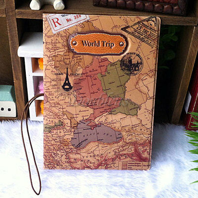 Travel World Passport Holder Ticket Document Protector Cover Case Bag  Wallet BE