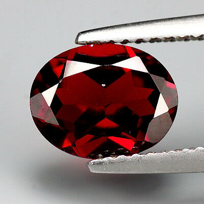 2.01ct. Charming Brown Red Natural Pyrope Garnet Oval Facet
