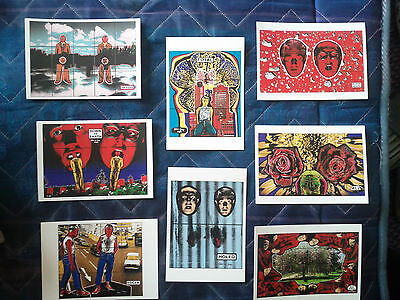 Set of 8 new Gilbert and George prints postcards (decoupage)
