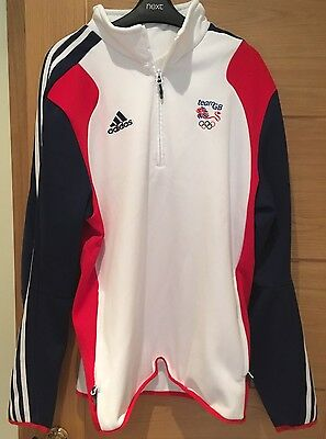 Adidas Olympic Team GB Men's 1/2 Zip Sweatshirt Size 44/46 Athlete Issue Only