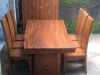 INDONESIAN DINING TABLES AND CHAIRS (read the advert)