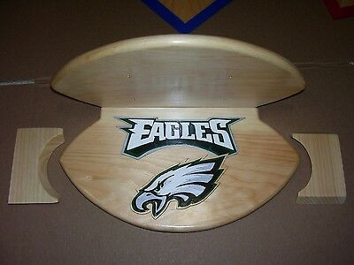 Eagles display wall shelf for footballs see pic for other items  logo solid wood