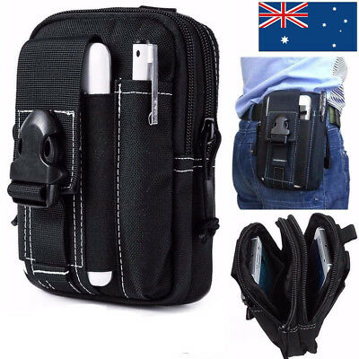 Universal Army Black Belt Pouch Case Cover for iPhone 7 Holster Tactical Bag AU