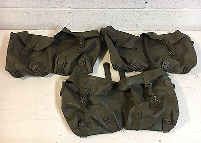 Swiss Army Military DDR German Rubberized Pouch Pack Ammo Belt Carriers X3 1990