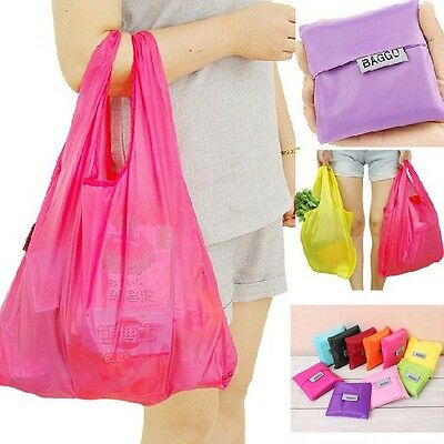 Large Foldable Waterproof Storage Eco Reusable Compact Shopping Tote Grocery Bag