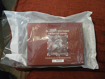 2004 PROOF GOLD Half Sovereign , UNOPENED From the Royal mint