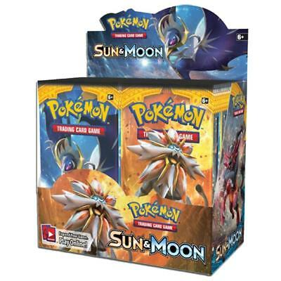 POKEMON SUN AND MOON BOOSTER BOX - Sealed Box of 36 Sealed packs