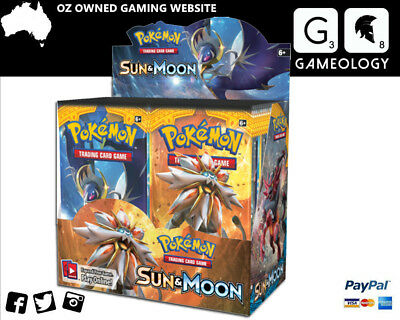 Pokemon Sun And Moon Booster Box - 6 Boxes In Cartoon