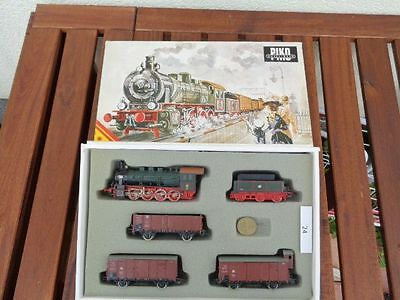 Piko Freight train set with Steam locomotive G 8.1/BR 55 of the KPEV good,used