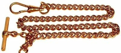 Gold Gold Plated Albert Large Curb Chain Double Clasp by David Van Hagen