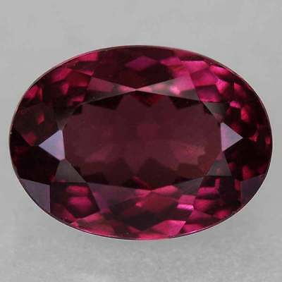 14x10mm OVAL-FACET DEEP-RED/PURPLE NATURAL ALMANDITE GARNET GEMSTONE (APP £70)