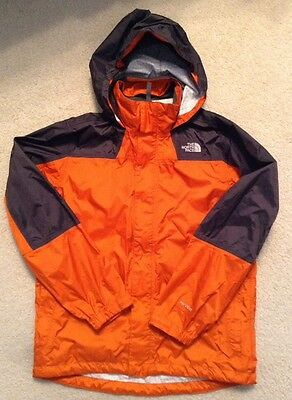 EUC! Youth The North Face Orange/Gray Lined Hyvent Jacket(lightweight) Size LG