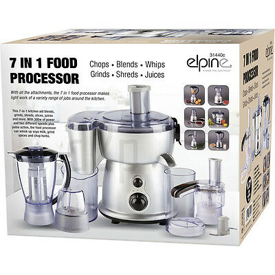 7 In 1 Food Processor Blender Chopper Juicer Grinder Mixer Multi Shredder 380W