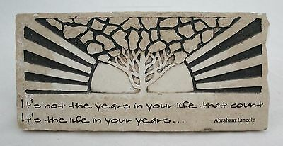 NWOT Abraham Lincoln Life Quote Plaque