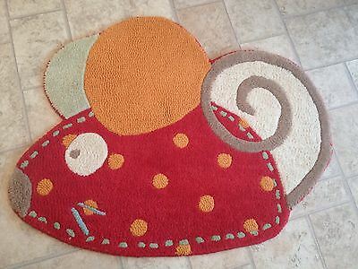 Next Ziggy and Friends 100% Wool Rug 71 Cm X 88 Cm . Excellent Condition