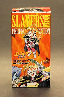 Slayers Try Perfect Collection 1998 Trading Card Box 15 Packs Anime Japanese NIB