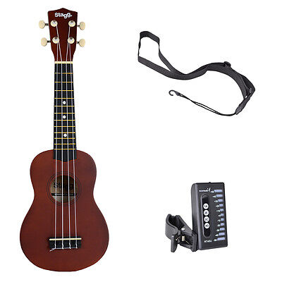 Stagg US10 Soprano Ukulele Bundle - Natural