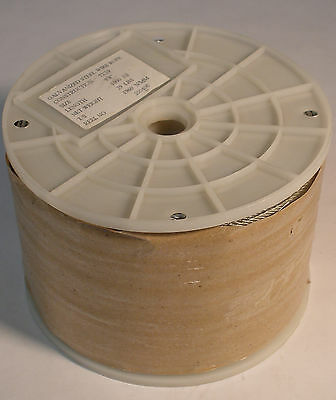 """1/8"""" Galvanized 1960 N/MM Steel Wire Rope Cable - 1000ft Reel, 7x19 Strand Core"""