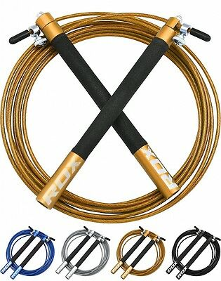 RDX Skipping Speed Jump Rope Fitness Adjustable Exercise Cable Boxing Calorie