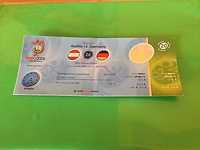 Ticket Austria - Germany Euro 2008 Austria/switzerland Match N. 20