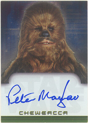 Star Wars EVOLUTION AUTOGRAPH CARD PETER MAYHEW as CHEWBACCA Topps 2001 RARE