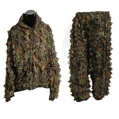 3D Leaf Adults Ghillie Suit Woodland Camo/Camouflage Hunting Deer Stalking in AE