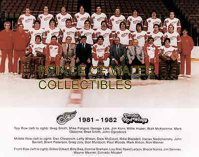 1982 Detroit Red Wings Team Photo 8X10