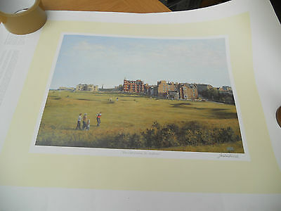 Old Course St Andrews, Signed Print by Jonathan Mitchell (Golf)