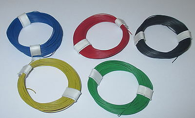 (0,179€/m)Decoder wire extra thin 0,04 mm² 5 Rings a 10m NEW Choice of Color
