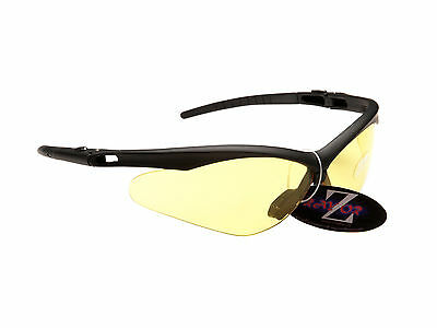 RayZor Uv400 Black Clear Yellow Lens Light Enhancing Cricket Sunglasses RRP£49