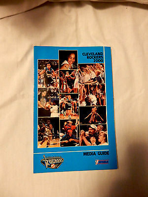 Wnba 2000 Cleveland Rockers Fact Book / Media Guide